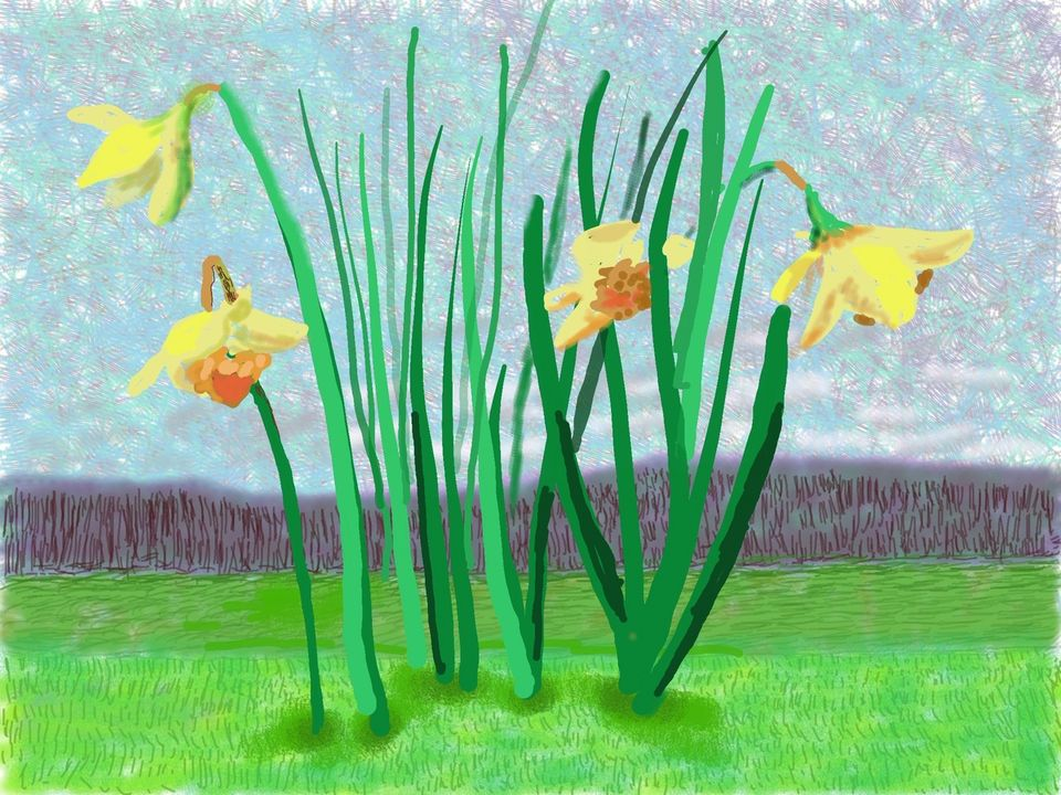 Un messaggio da David Hockney: 'Do remember they can't cancel the spring'