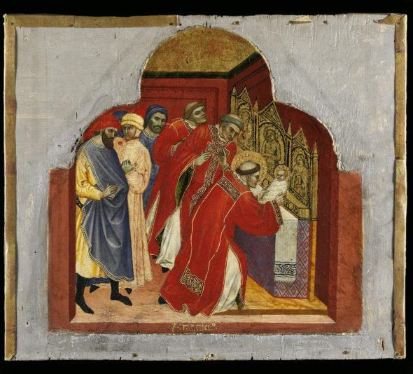 Taddeo di Bartolo Galleria Nazionale dell'Umbria 2020 Tavoletta della predella di San Francesco al prato