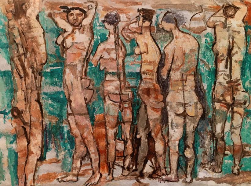 Galleria de' Bonis Reggio Emilia Fausto Pirandello, Bagnanti, 1972