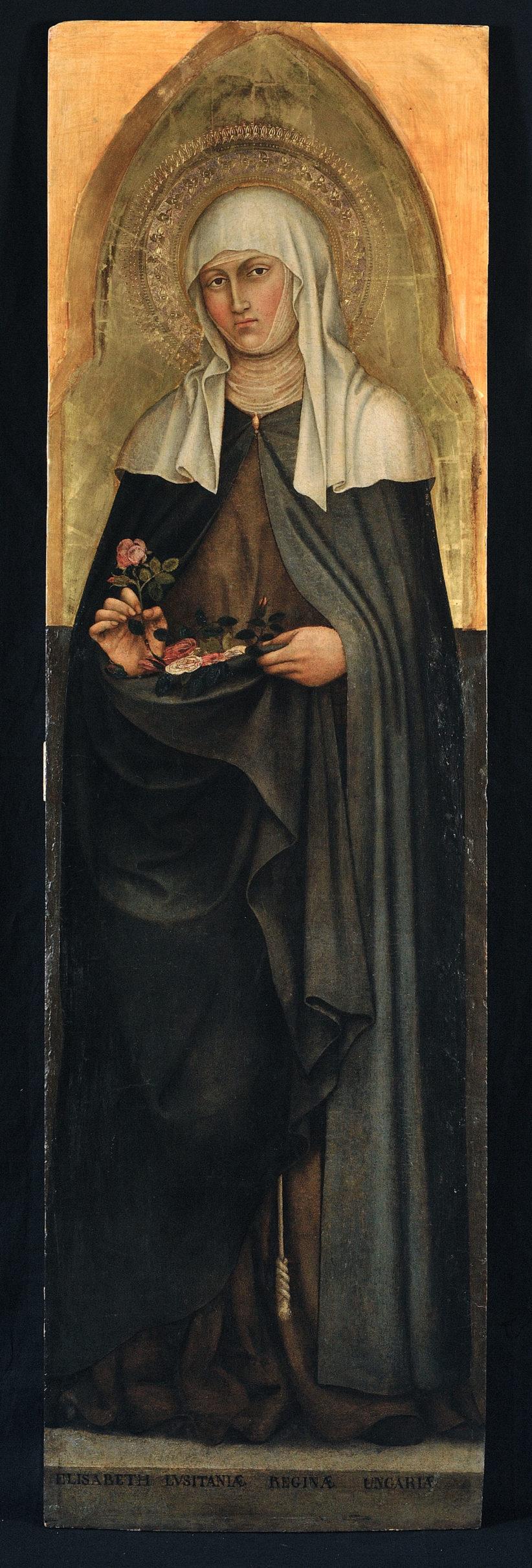 Taddeo di Bartolo Galleria Nazionale dell'Umbria Santa Elisabetta d'Ungheria, 1403 (dettaglio)