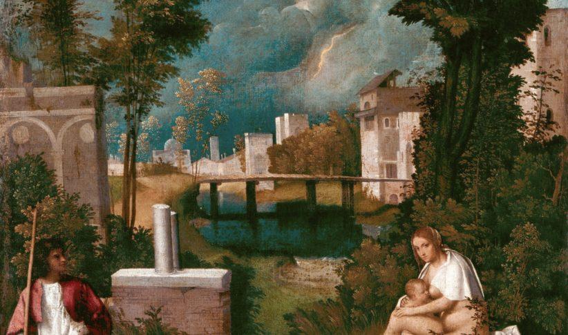 Giorgione, La tempesta, Gallerie dell'Accademia, Venezia, particolare