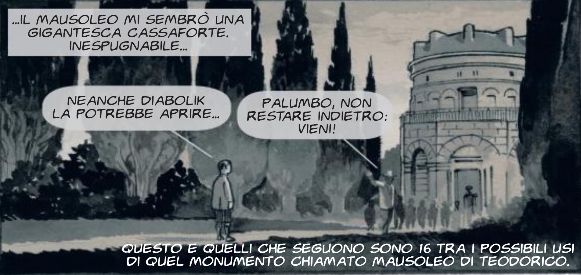 Fumetti (gratis) nei musei. La matita di Giuseppe Palumbo nel Mausoleo di Teodorico a Ravenna
