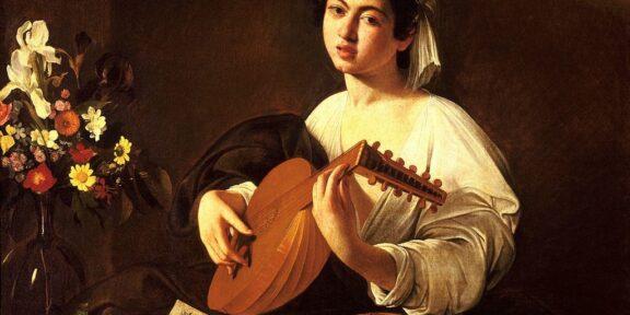Il Suonatore di liuto di Caravaggio, all'Ermitage