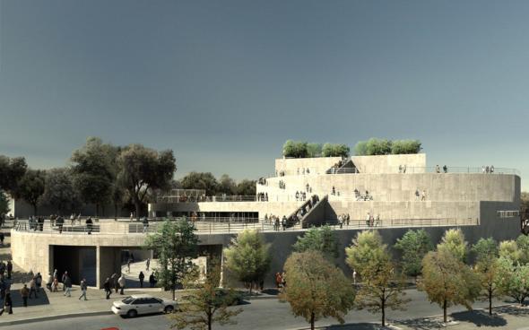 Il teatro lirico di Aix-en-Provence, progettato da Vittorio Gregotti