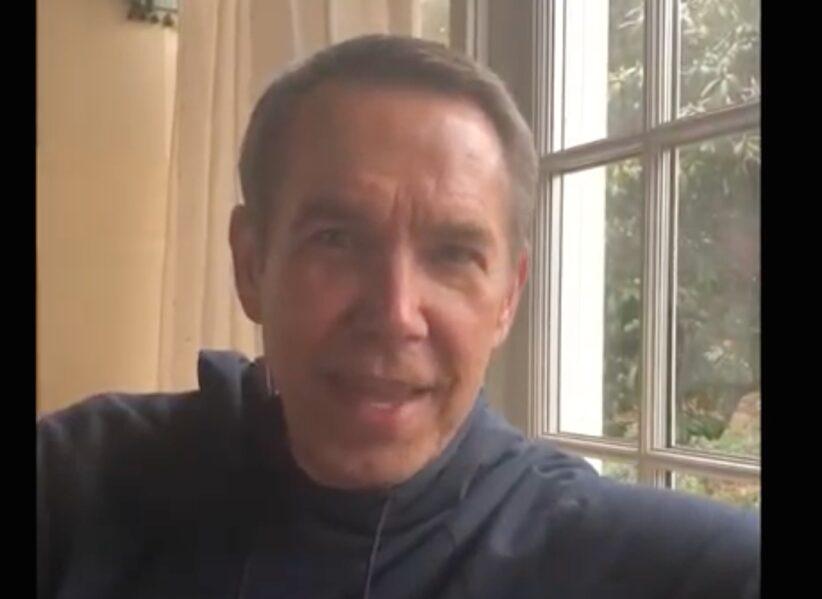 Jeff Koons nel video messaggio per Palazzo Strozzi