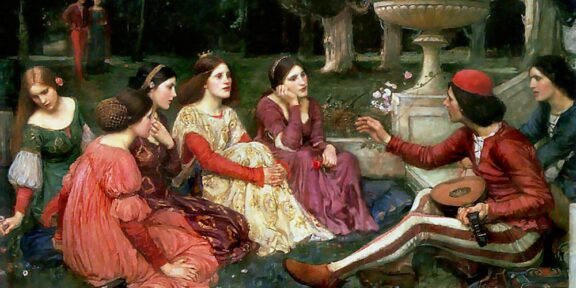 John William Waterhouse, A Tale from Decameron, 1916