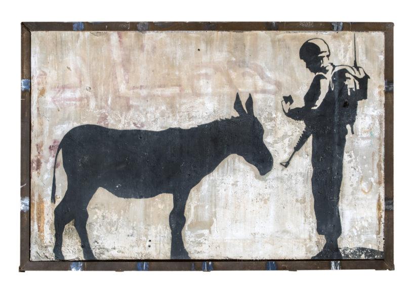 L'opera di Banksy a Betlemme (2007)