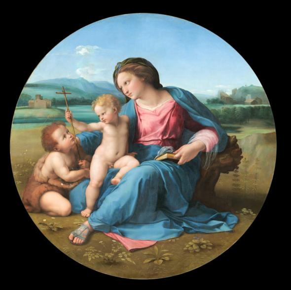 Raffaello Madonna con il Bambino e San Giovannino (Madonna d'Alba)