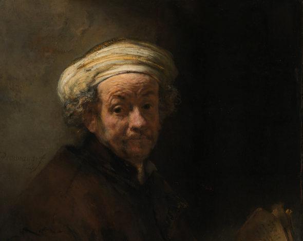 Rembrandt, (Leida, 1606 – Amsterdam, 1669) Autoritratto come san Paolo, 1661 olio su tela, cm. 91x77 Amsterdam, Rijksmuseum