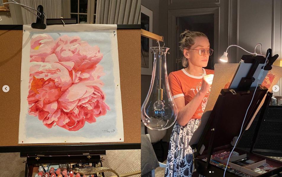 Sharon Stone si improvvisa pittrice e scopre il suo talento nascosto!
