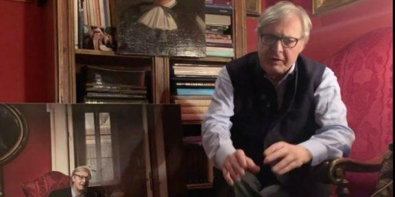 Vittorio Sgarbi nel nuovo video sul Coronavirus