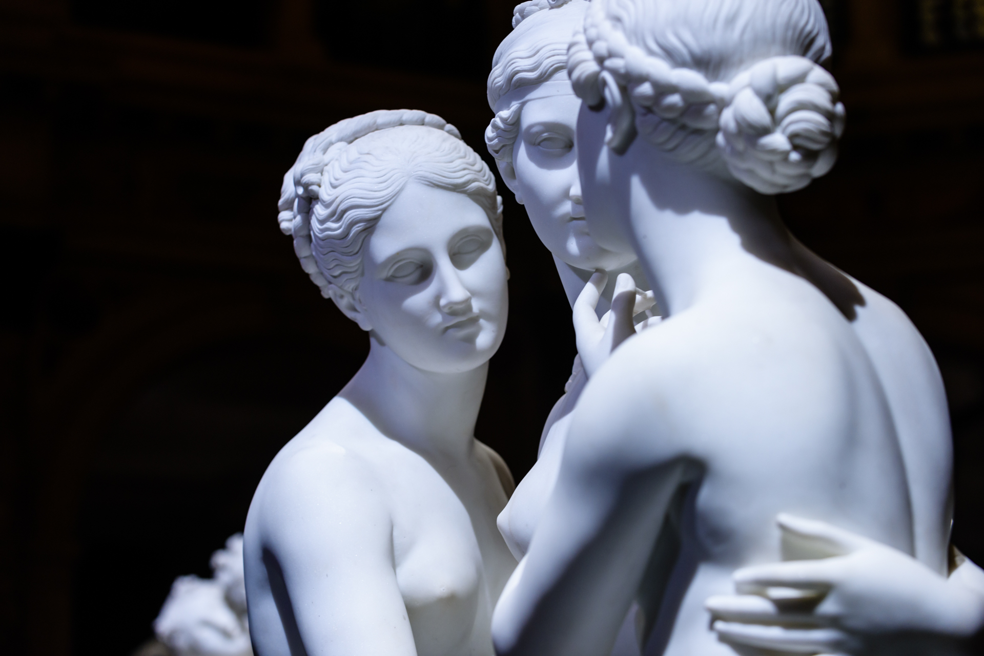 L'eterna bellezza della scultura di Canova e Thorvaldsen immortalata in immagini spettacolari