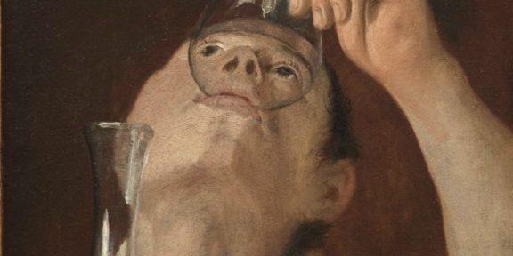 Il ragazzo che beve di Carracci del 1582-1583
