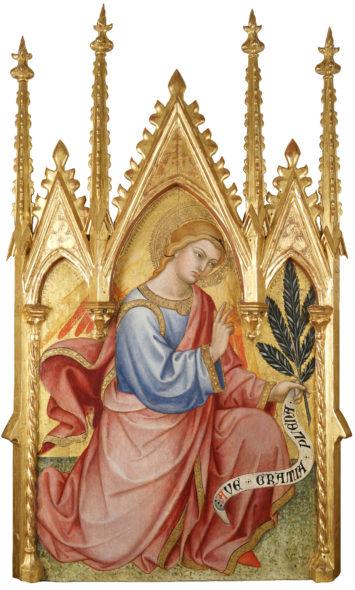 Taddeo di Bartolo Galleria Nazionale dell'Umbria 2020 Cuspide con Arcangelo Gabriele, 1401