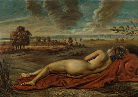 Giorgio de Chirico, Nudo in un paese