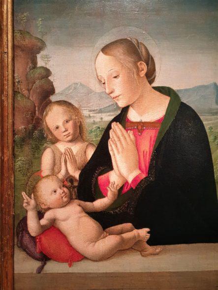 Madonna e San Giovanni di Antoniazzo Romano da Salamon (1490-1492 ca)