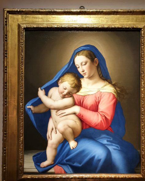 Classica ma importante Madonna con Bambino del Sassoferrato, 1650, da Benappi