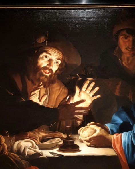 Cena in Emmaus di Mathias Stom da Salomon Liliam