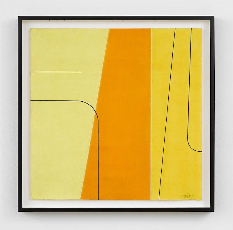 Bice Lazzari, Senza titolo, 1965. Tempera e pastello su tavola. @ L'artista. Courtesy Richard Saltoun Gallery, Londra.
