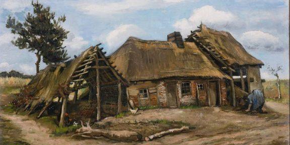 Vincent van Gogh. Peasant Woman in front of a Farmhouse (Paysanne devant une chaumière)