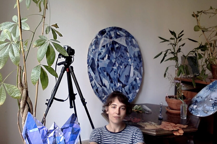 Rachele in studio, aprile 2020