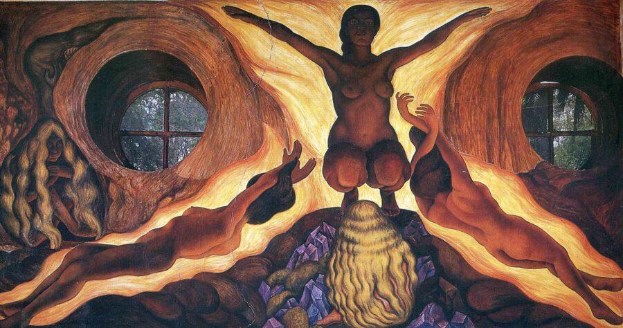 Diego Rivera, Le forze sotterranee, Cappella di Chapingo, 1926