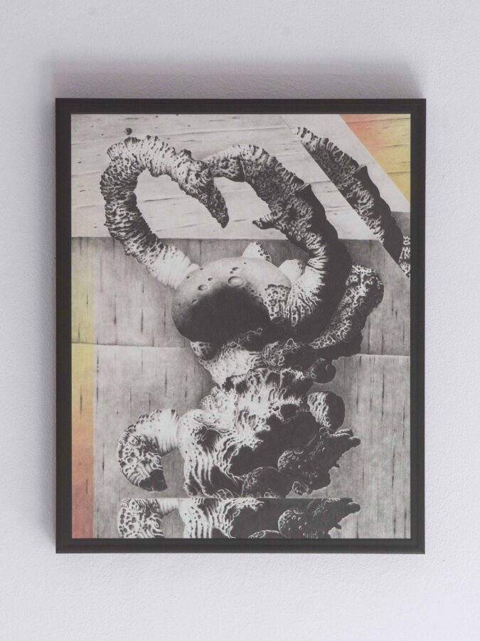 Vries(A truth about chocking), grafite e spray acrilico su carta, 2019