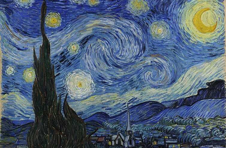 Vincent van Gogh, La notte stellata, 1889, The Museum of Modern Art