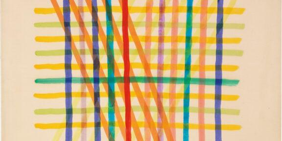 Piero Dorazio, Senza titolo, tecnica mista su carta applicata su tela, cm 57,6x72,5, base d'asta 18.000 euro