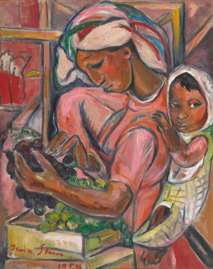 Asta Sotheby's arte africana 2020 Irma Stern, Grape Packer, 1959