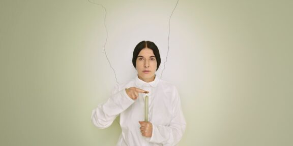 "Artist Portrait With a Candle"" (detail) Marina Abramovic; via Sean Kelly Gallery/(ARS), New York"