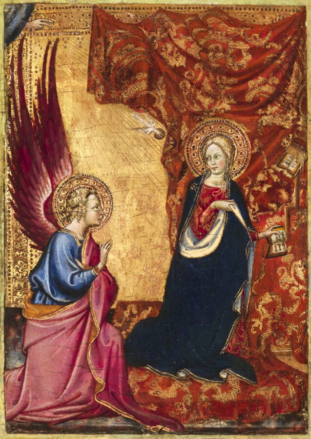 Alvaro Pirez d'Évora, Anunciação, c. 1430-1434, Tempera e ouro sobre madeira, Museu Nacional de Arte Antiga, ©DGPC:ADF, Luísa Oliveira