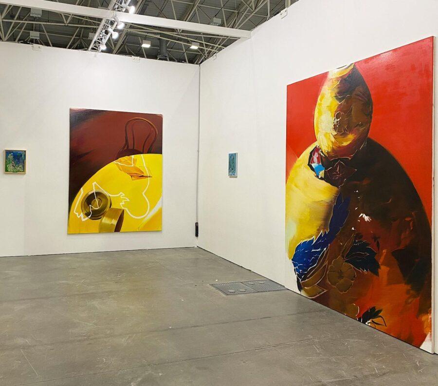 Andrea Fontanari, Arte Fiera Bologna, Pittura XXI, Exhibition view stand Boccanera Gallery. 2020 Courtesy Boccanera