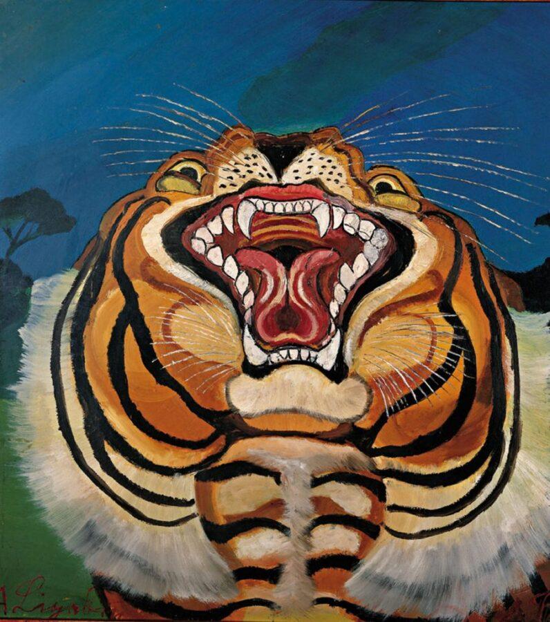 Antonio Ligabue, Testa di tigre, 1955-1956