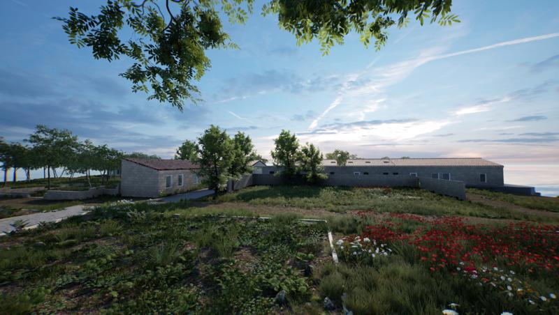 ArtLab - Hauser & Wirth Menorca exterior view created in HWVR
