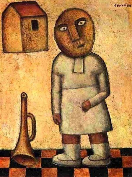 Carlo Carrà, Antigrazioso, Bambina