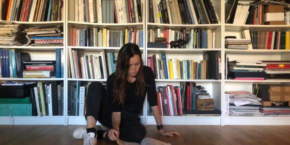 Chiara Casarin in quarantena (foto Matilda Luna)