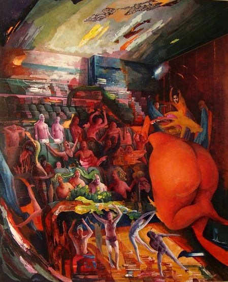 Chiara Sorgato, La mente suprema, olio su tela 80x100 cm, 2019
