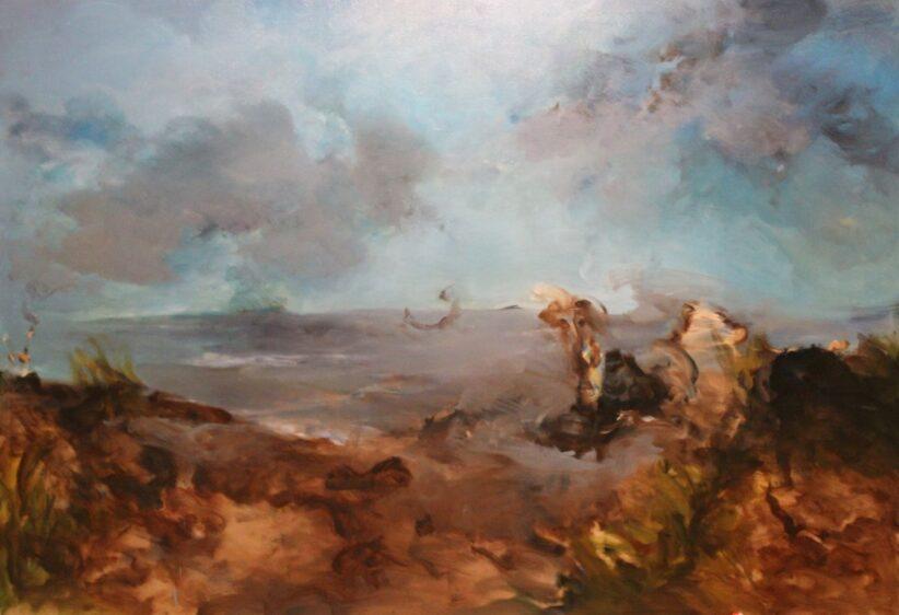 Alberoni, olio su tela 250x170cm, 2018, collezione privata