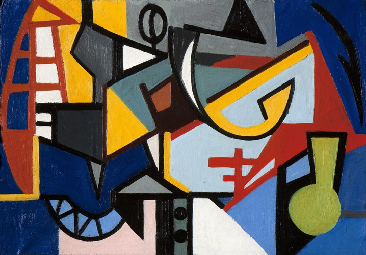 Emilio Vedova Cantiere 1956-57 olio su tela 70 x 100cm Courtesy Mazzoleni-London-Torino