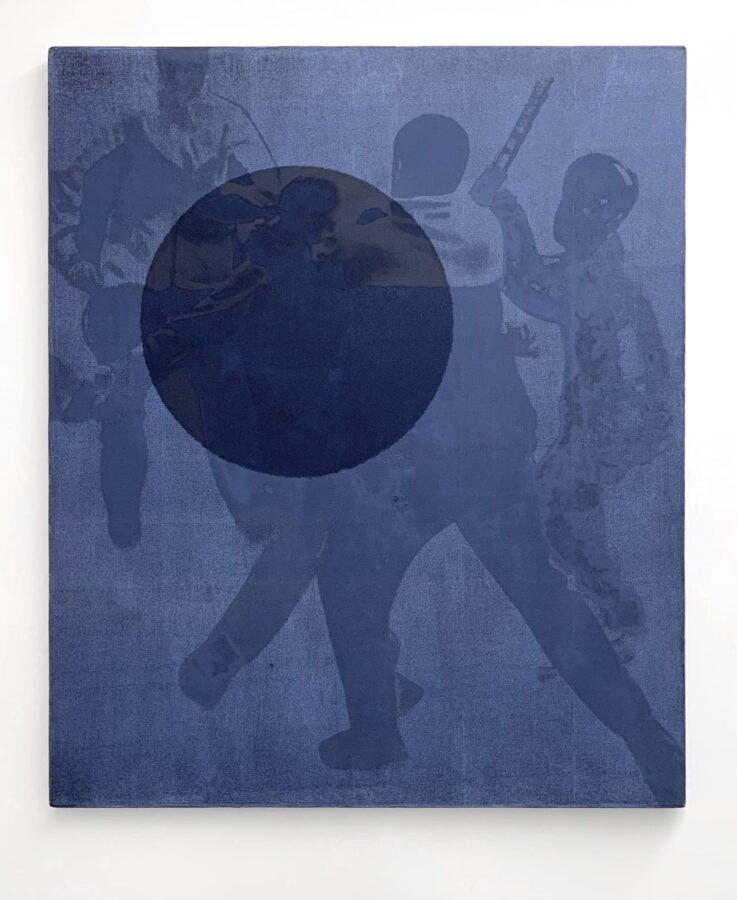 Ettore Pinelli Negare una visione personale (payne gray) 2016 olio su tela 120x100 cm