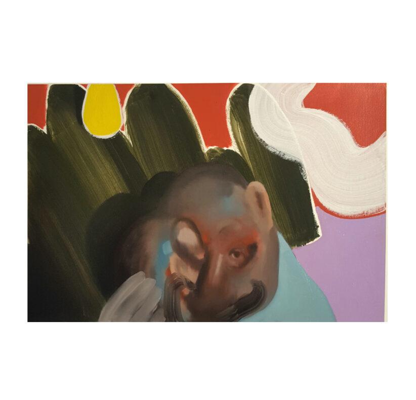 Giuliano Sale 56 x 76 cm olio su carta 2020 The Inward-looking Papers (2)
