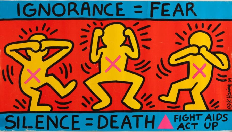 Keith Haring, Ignorance=Fear, poster, 1989, Collection Noirmontartproduction, Paris