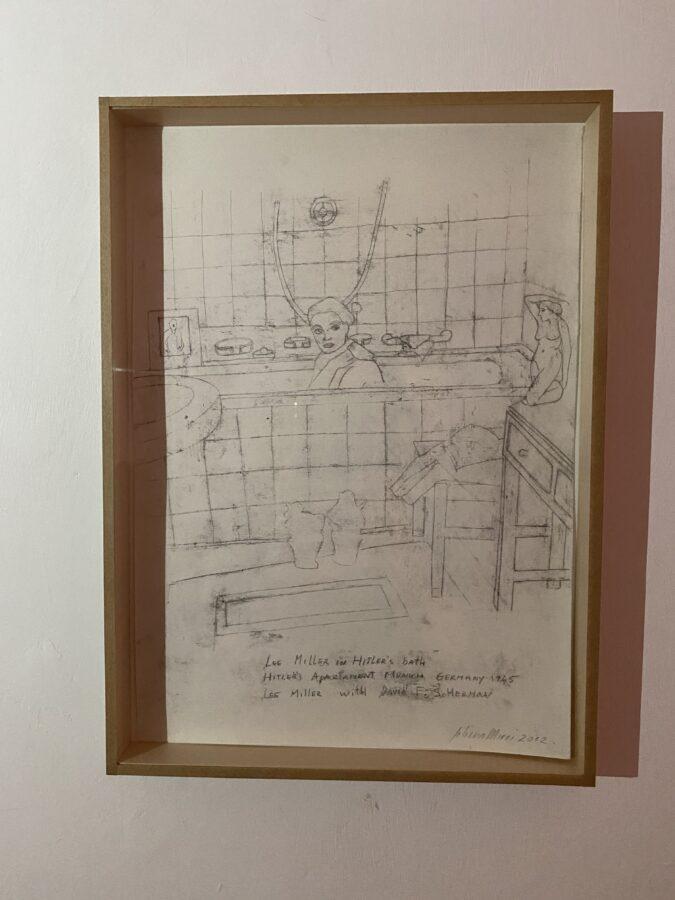 Lee Miller in Hitler's Bath; matita su carta; 2012