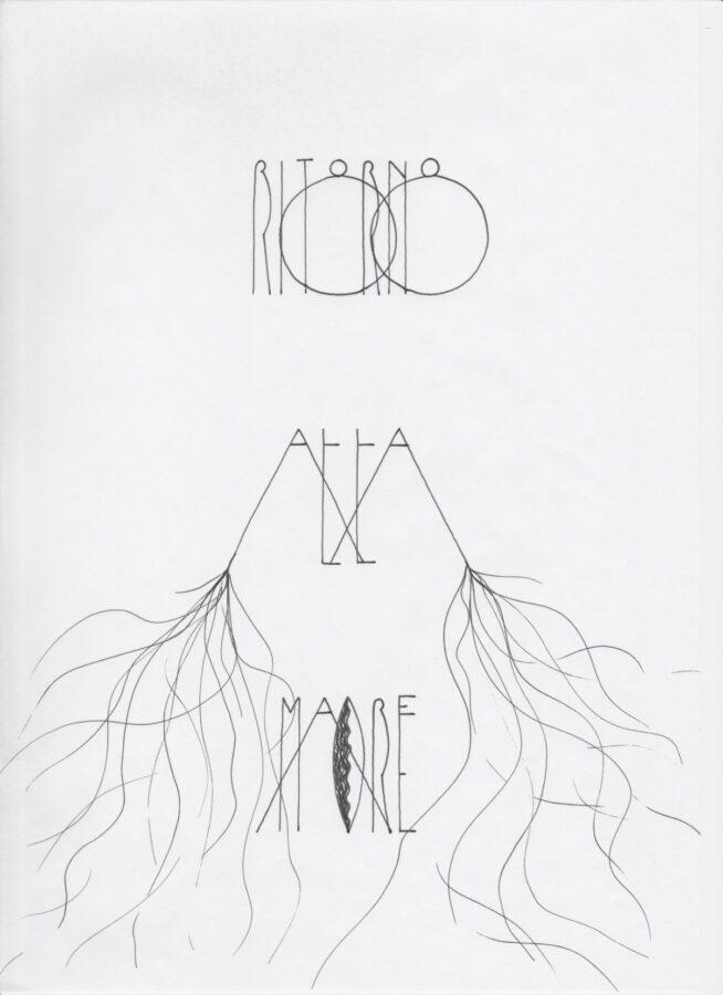 """Riccardo Beretta, Ritornoalla Madre, Disegnitratti da G. Bachelard """"La Terra e ilRiposo"""" (2020) – Parte della campagna a scopobeneficonell'emergenza Covid-19. Courtesy dell'artista."""
