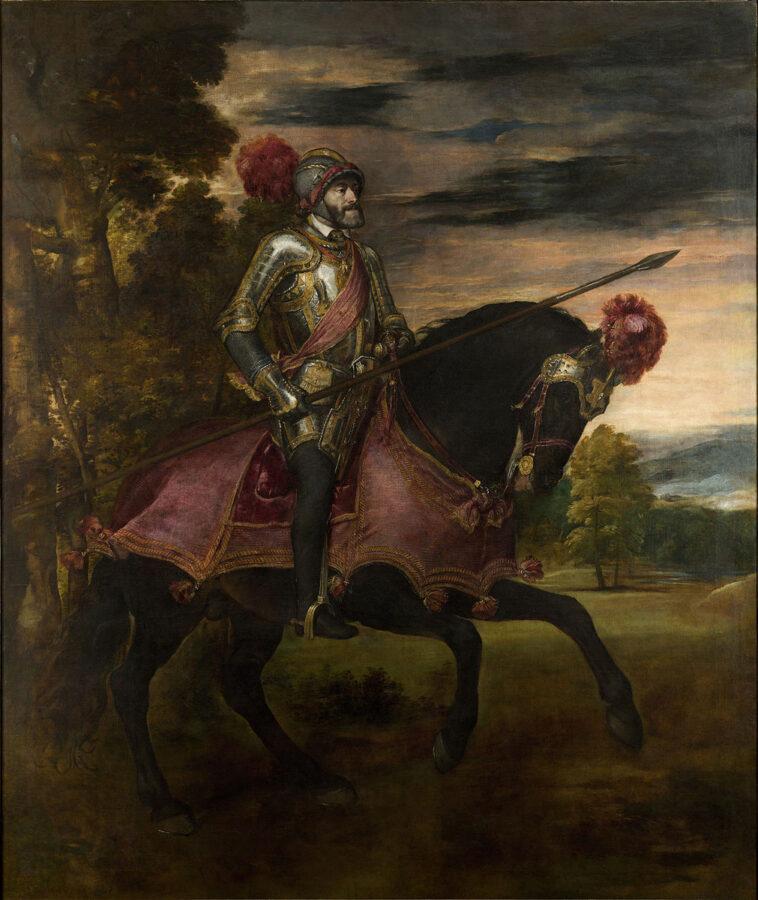 Ritratto di Carlo V a cavallo, di Tiziano