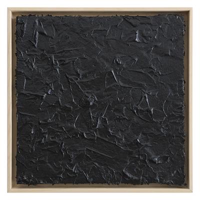 Roberto Coda Zabetta Untitled 38 (black#000000) Fiberglass on canvas cm 50x50 2017 courtesy Annet Gelink gallery