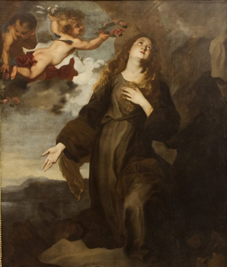 Santa Rosalia incoronata dagli angeli, di Antoon van Dyck
