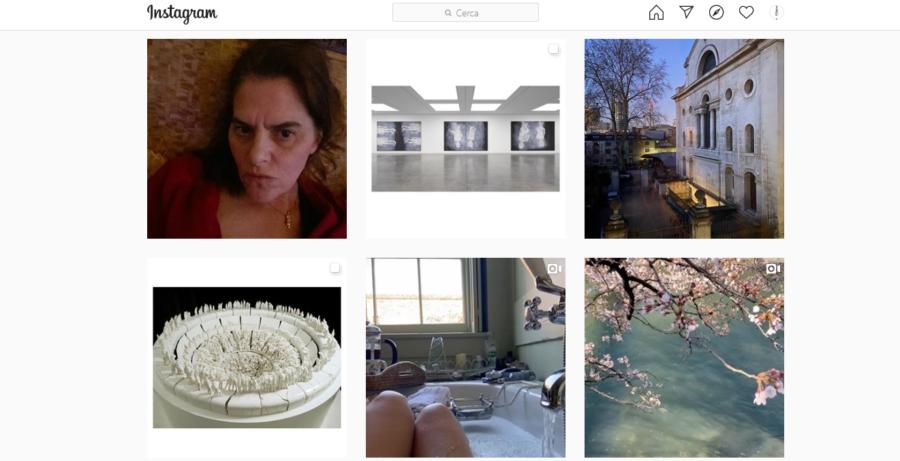Alcuni post di Tracy Emin dal profilo Instagram ufficiale della gallerie White Cube