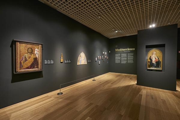 Veduta della mostra di Alvaro Pirez d'Évora